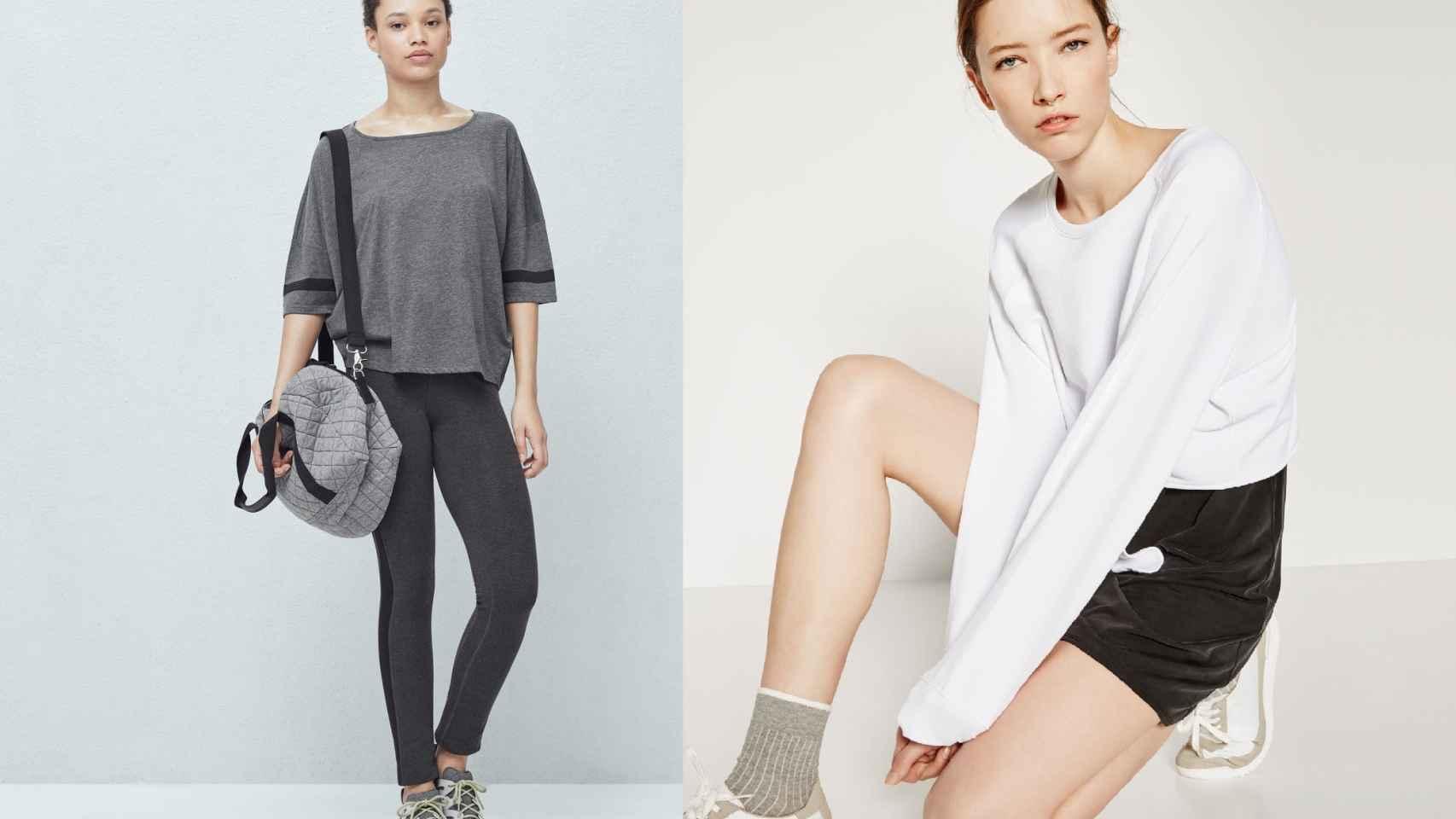 Looks deportivos de Mango y Zara.
