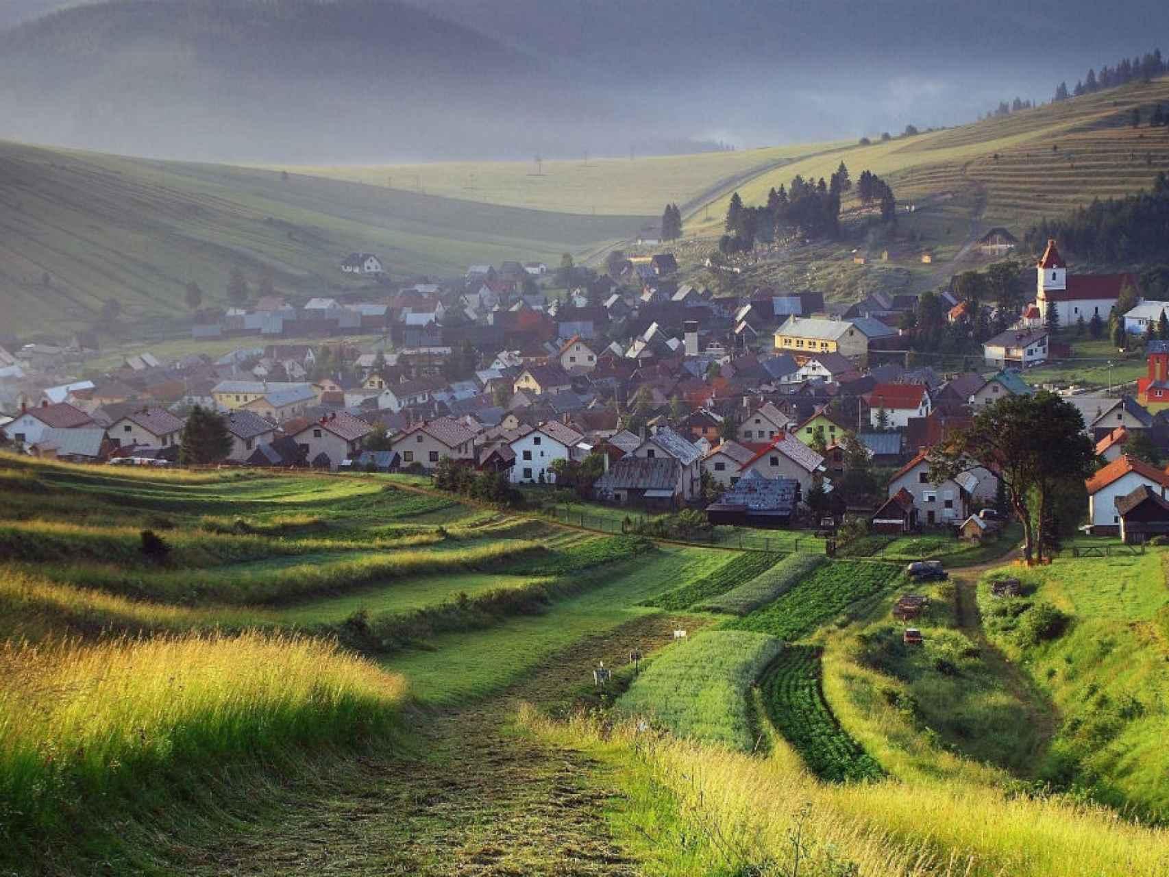 Un pueblo de la zona del interior de Eslovaquia.