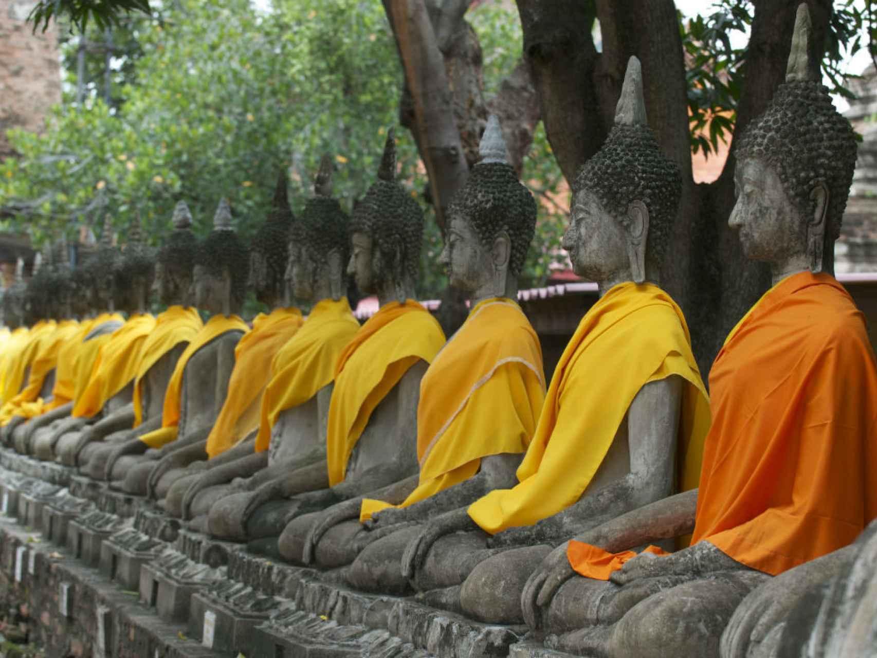 Esculturas budistas.