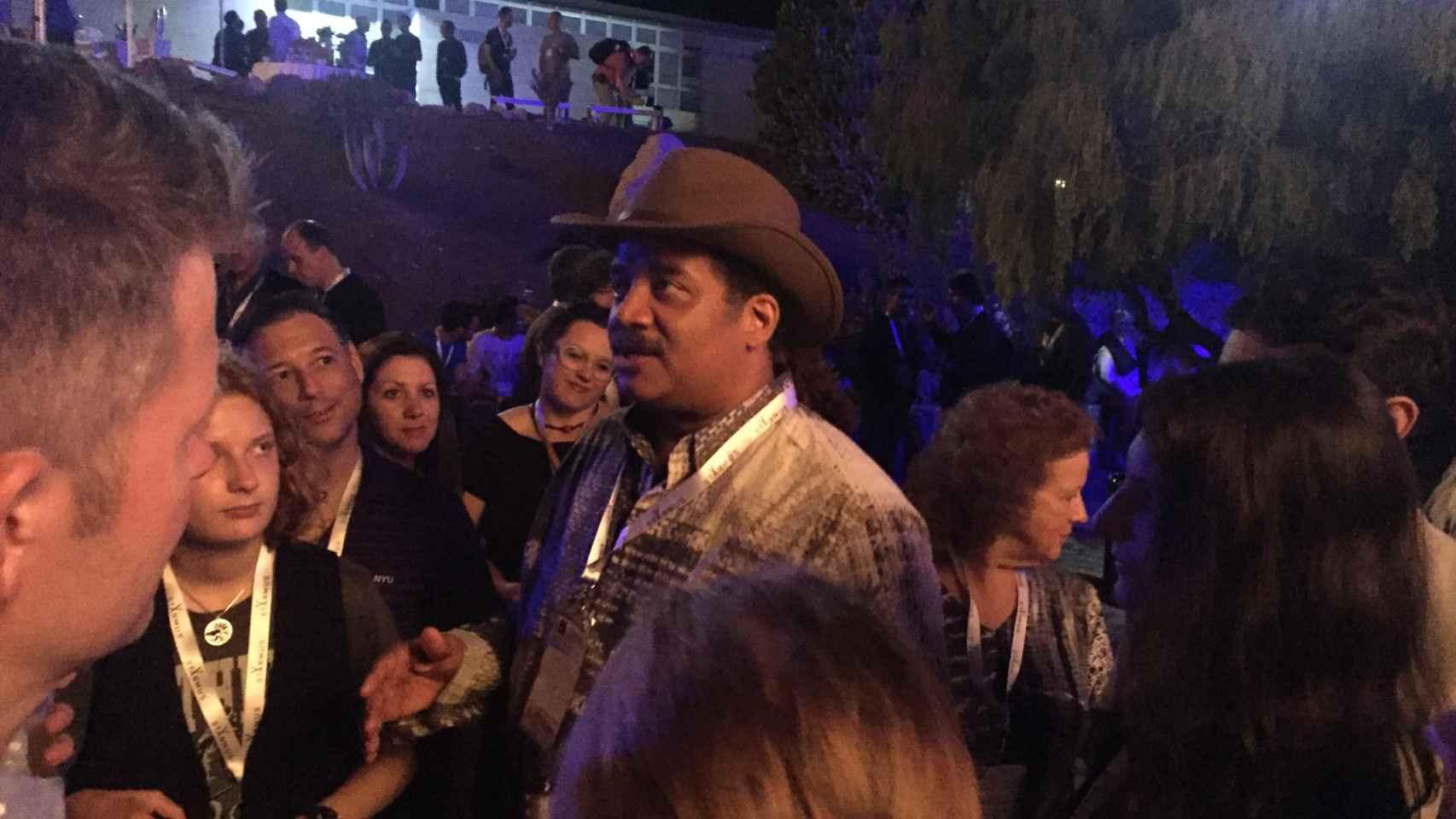 Neil deGrasse Tyson, en la fiesta del Starmus.