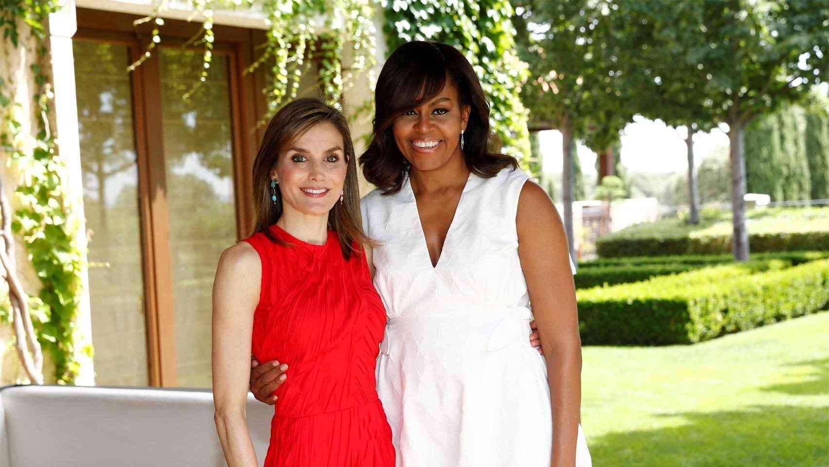 La reina Letizia y Michelle Obama.