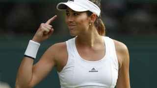 Garbiñe Muguruza, en Wimbledon.