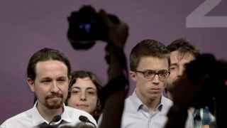 Los líderes de Podemos en Madrid el 26-J.