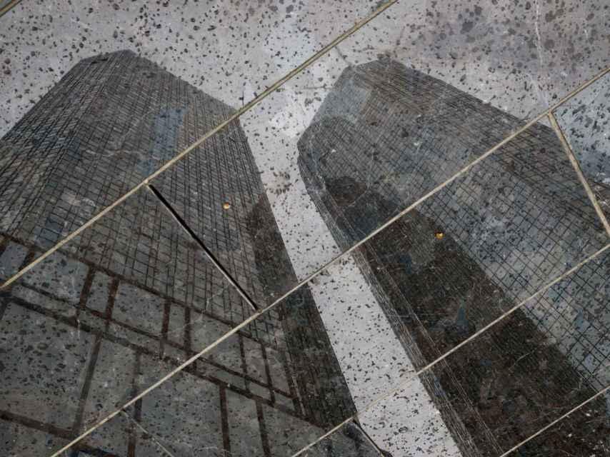 Reflejo de la sede de Deutsche Bank.