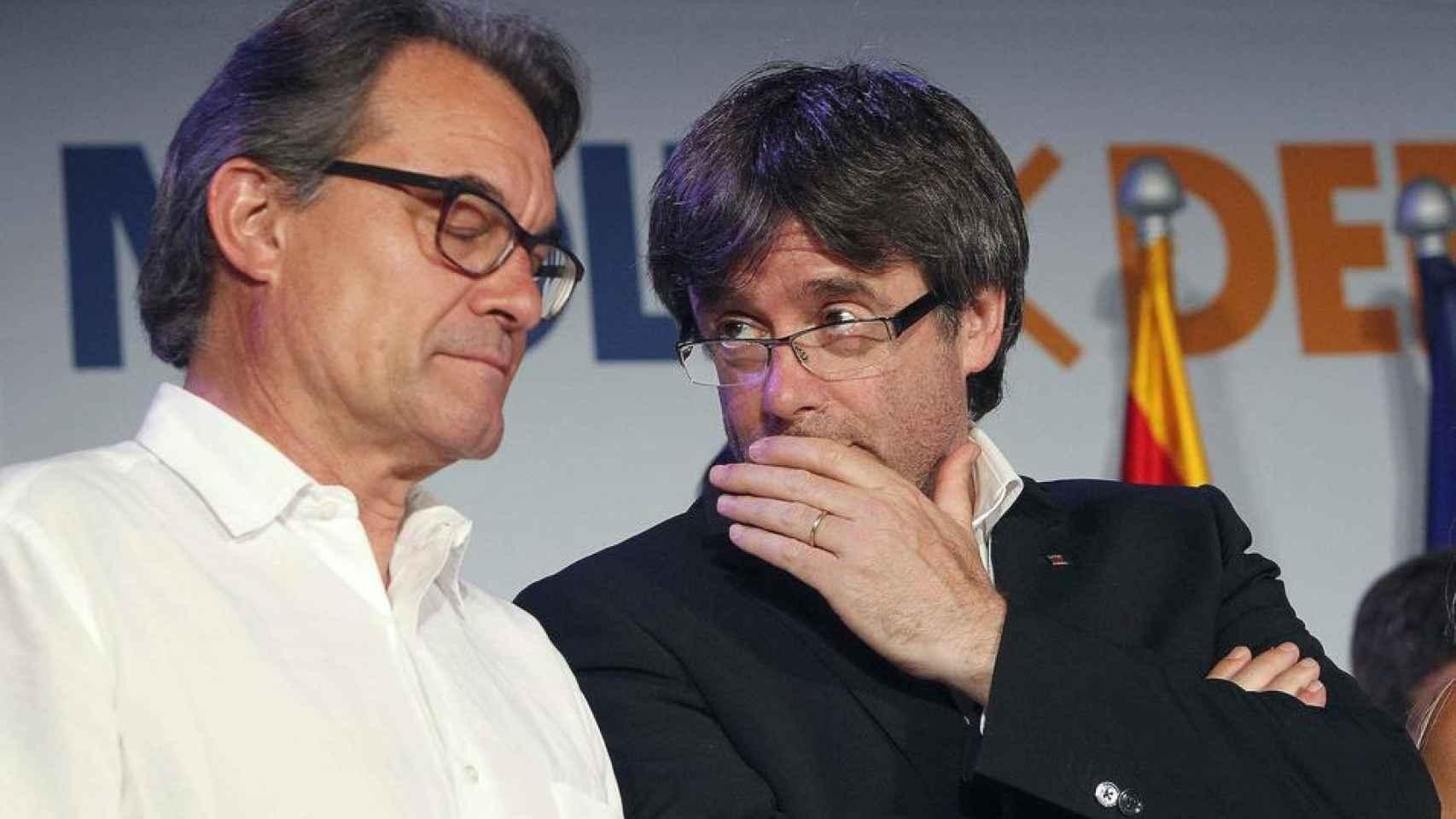 Artur Mas y Carles Puigdemont, los dos últimos presidentes de la Generalitat