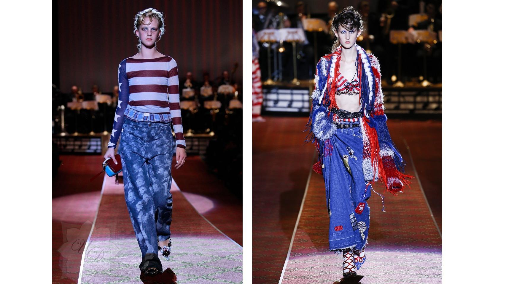 Desfile de Marc Jacobs para esta Primavera/ Verano 2016,  con con los colores y motivos de la bandera americana.