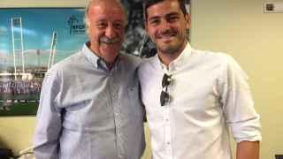 Casillas y Del Bosque se reencuentran en la Ciudad del Fútbol