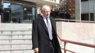 Rodrigo Rato, tras una comparecencia en la Audiencia de Madrid.