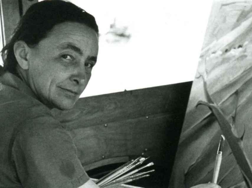La pintora Georgia O'Keeffe.