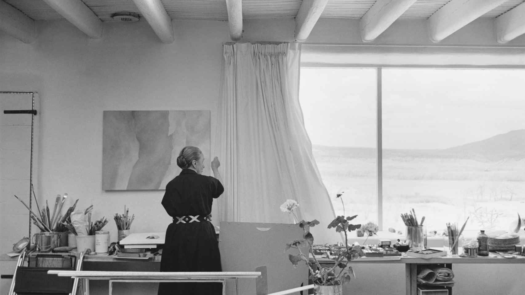 Georgia O'Keffe abrió su estudio al público en 1960.