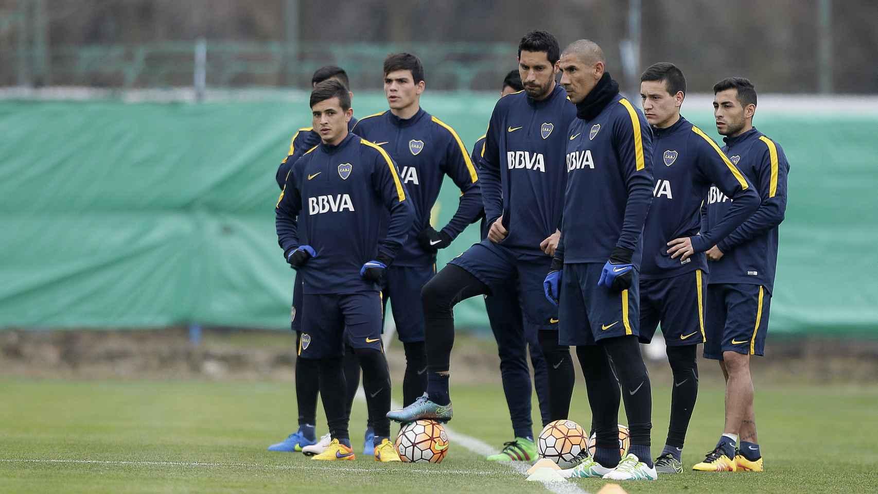 Entrenamiento de Boca Juniors.