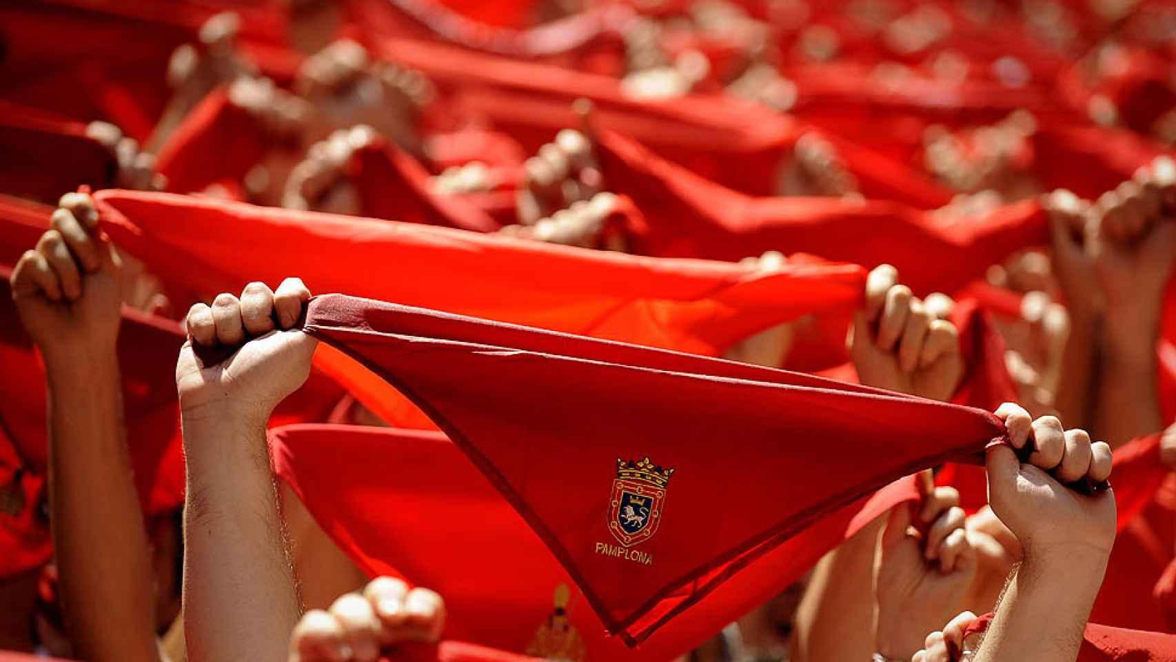 Pañuelos típicos de San Fermín.
