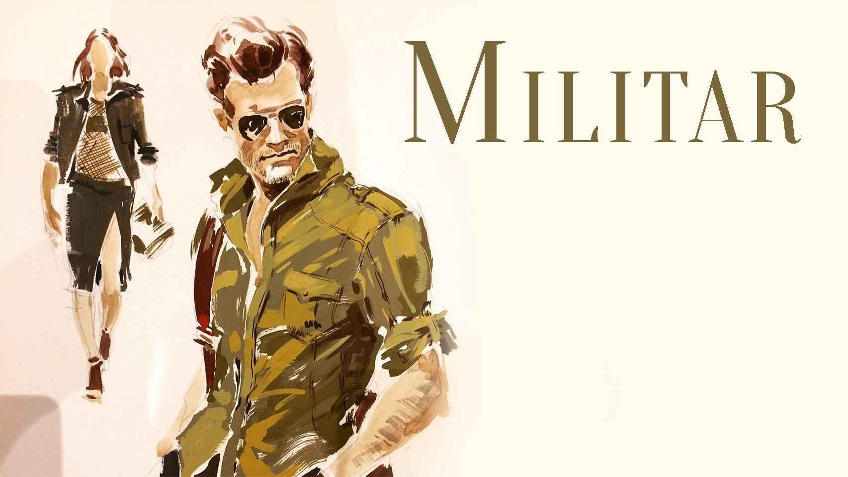 Tendencia 5: Militar. Ilustración: Elena Minenko.