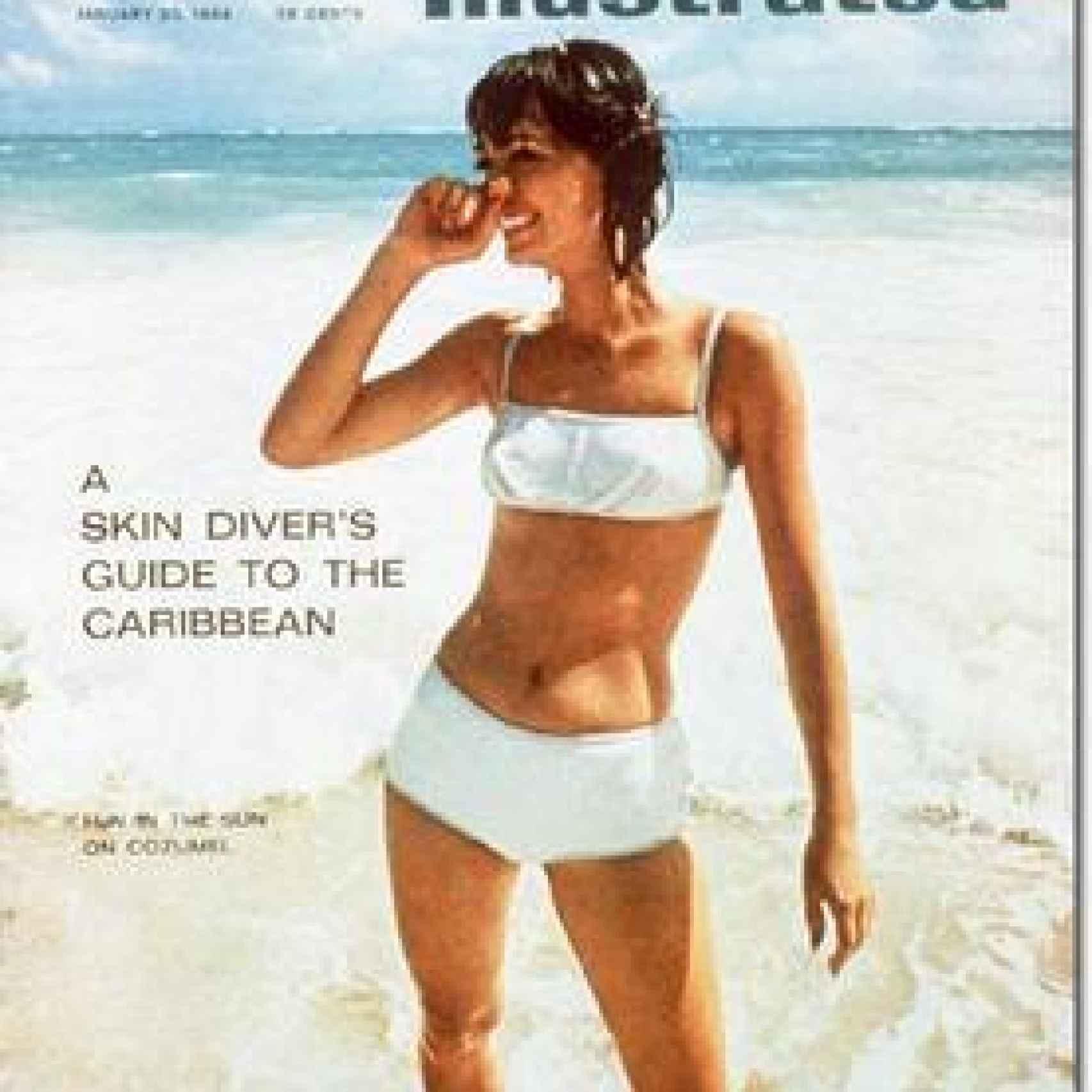 Primera portada de la revista Sports Illustrated en la que apareció una modelo en bikini.