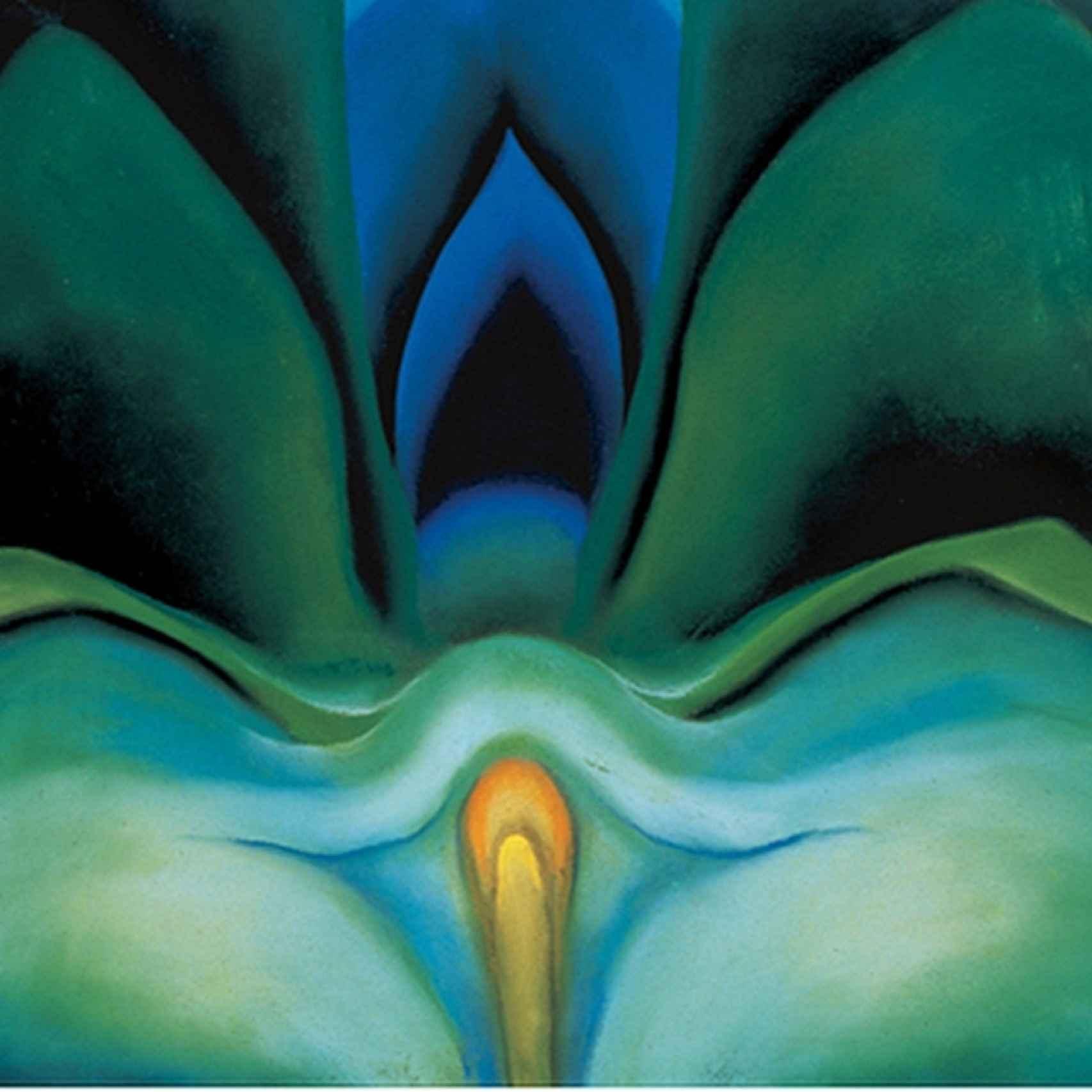 Blue Flowers, de la pintora Georgia O'Keeffe.