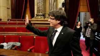 Carles Puigdemont en el Parlament de Cataluña
