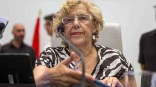La alcaldesa de Madrid, Manuela Carmena, en su primer pleno del estado de la Ciudad