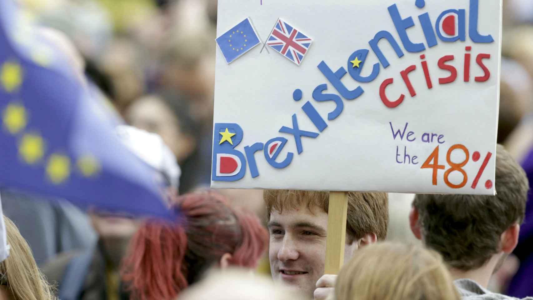 Protestas por el 'brexit' en Reino Unido.