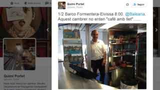 La versión del camarero de Balearia: No entendí a Quimi Portet. Cuando le pedí disculpas, me habló en italiano