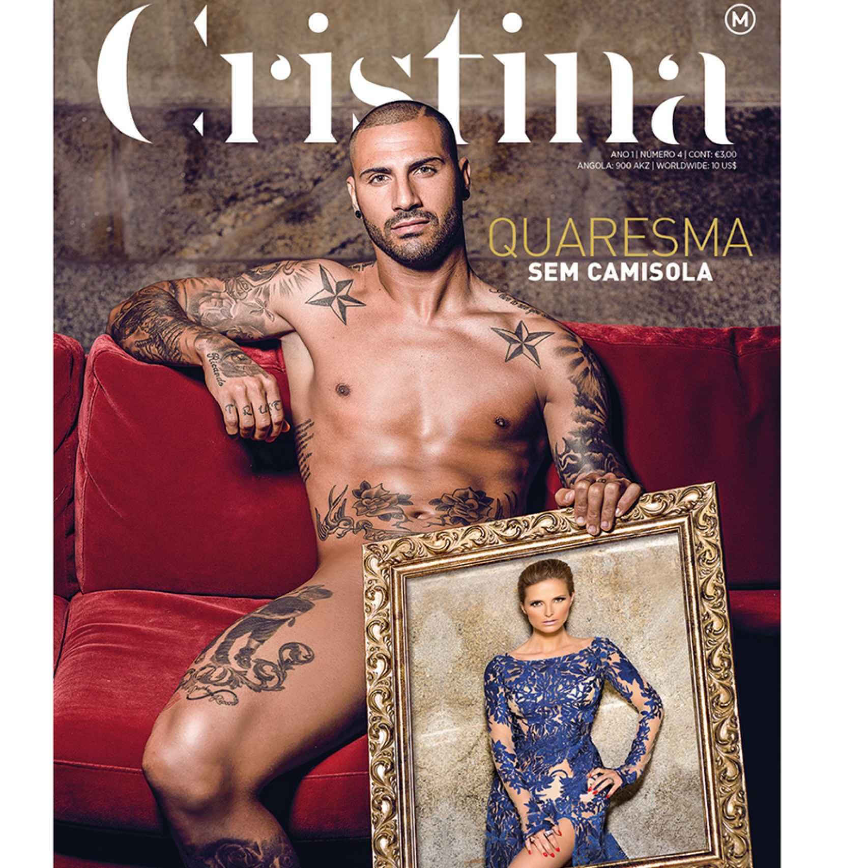 Ricardo Quaresma en la portada de la revista 'Cristina' en junio de 2015