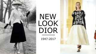 Christian Dior presentó su chaqueta Bar y su falda Corolle en 1947. Modelo de Alta Costura para el invierno 2016-2017.