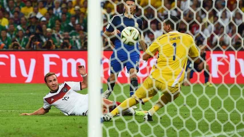 Götze marca el gol de Alemania en la final del Mundial.
