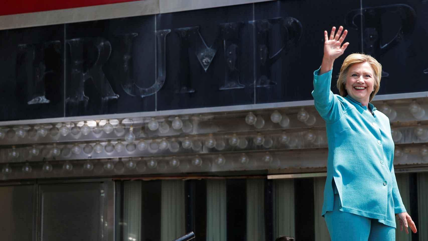 La candidata del partido demócrata, Hillary Clinton, en Atlantic City.