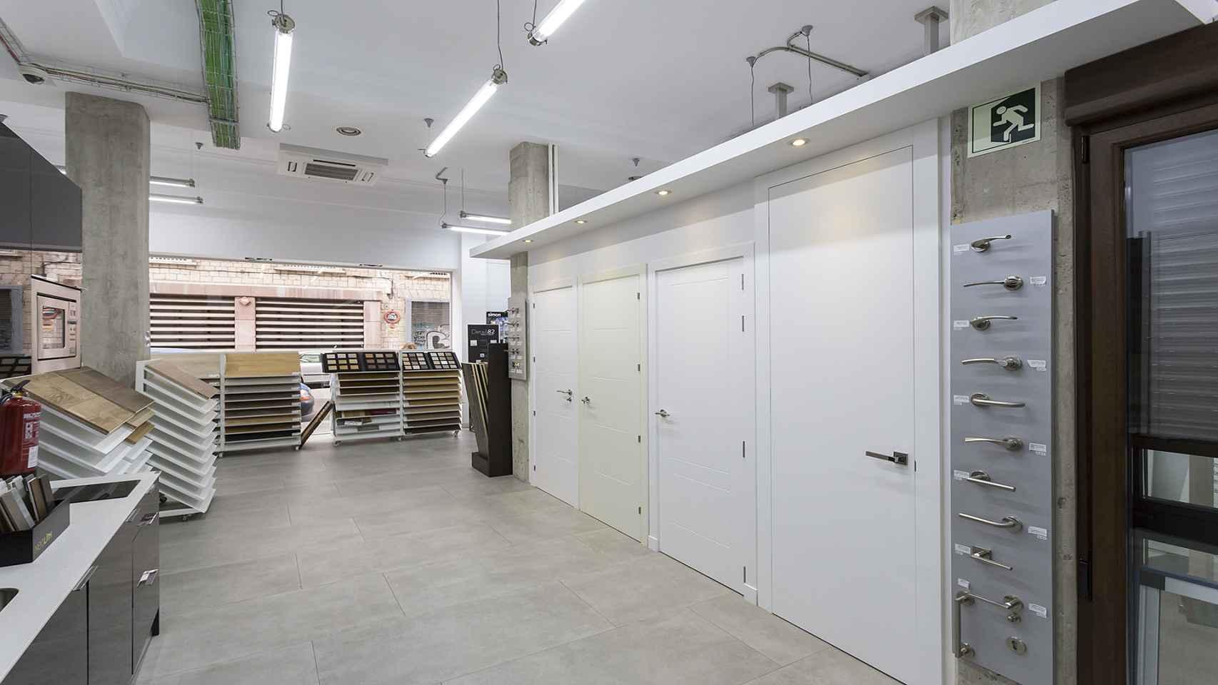 Exposición de materiales, acabados y ambientes en Reformas Vera.