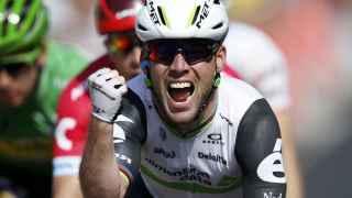 Cavendish celebra su victoria en la sexta etapa del Tour.