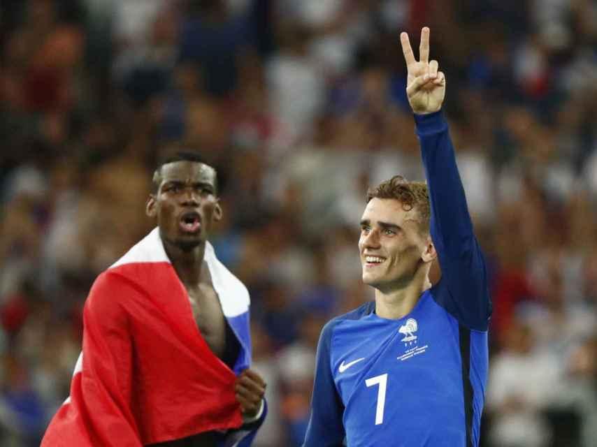 Griezmann celebra el pase a la final de su selección.