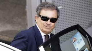 Jordi Pujol Ferrusola saliendo de la Audiencia Nacional.