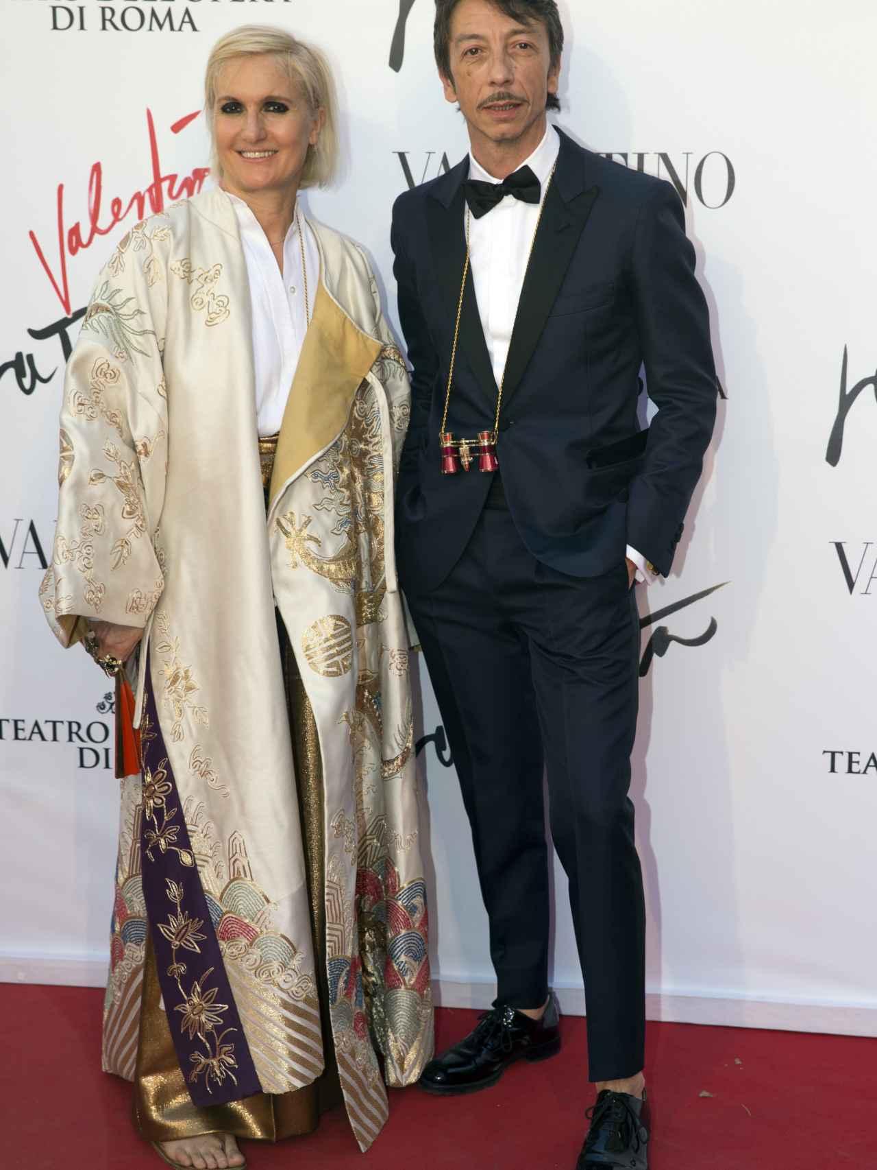 Maria Grazia y su ya ex-compañero Pierpaolo Piccioli.