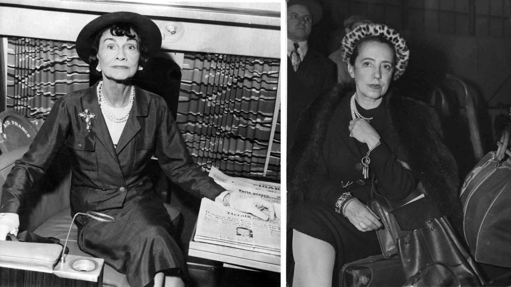 A la inzquierda, Coco Chanel y a la derecha, Elsa Schiaparelli.