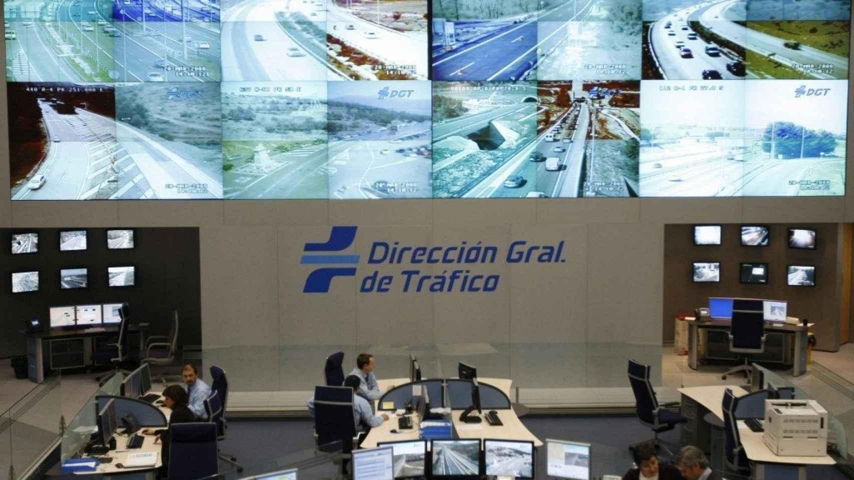 Sala de control de la DGT