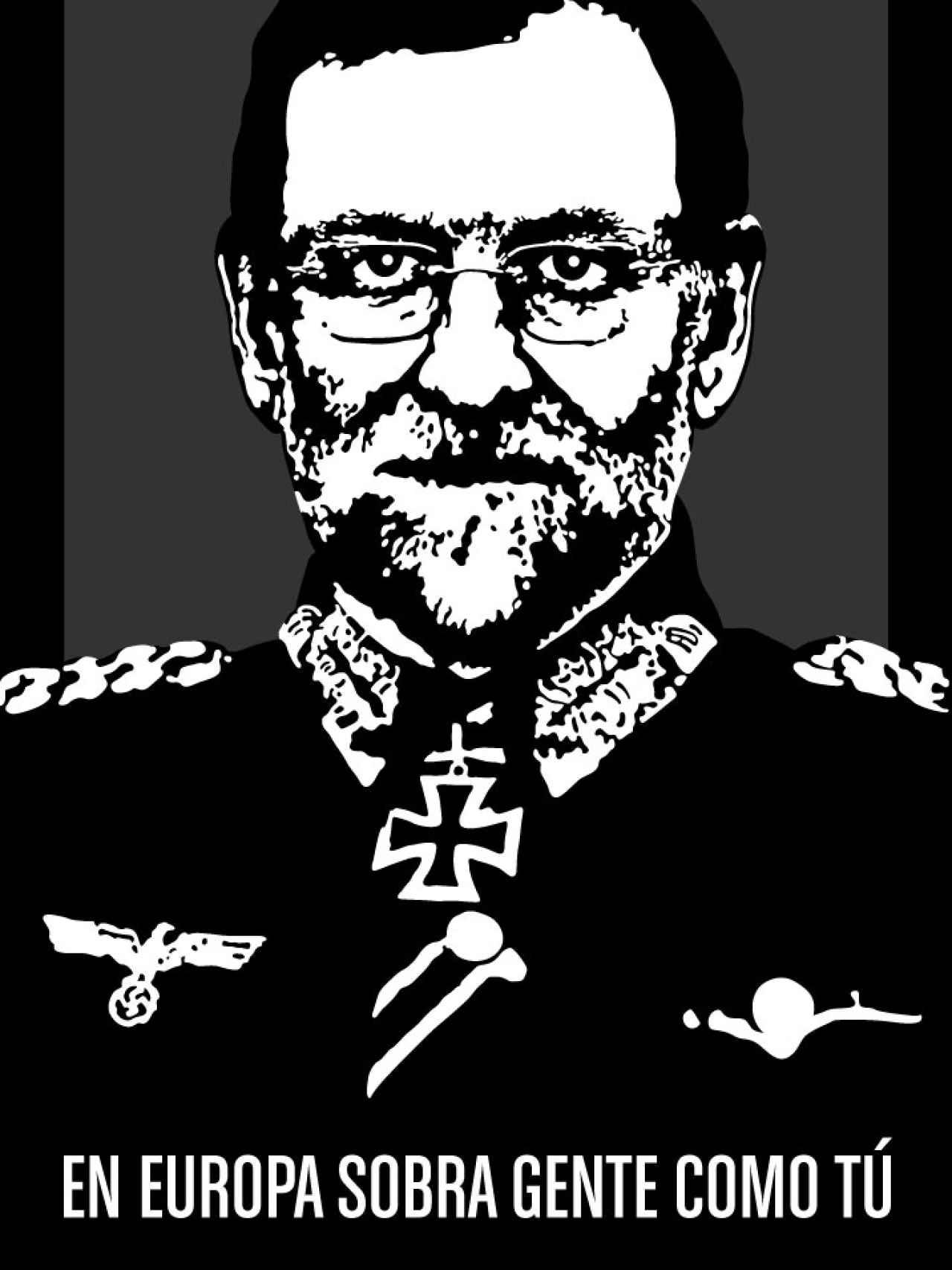 Rajoy de Führer. Lo acompañaba la rúbrica En Europa sobra gente como tú. Por Noaz.