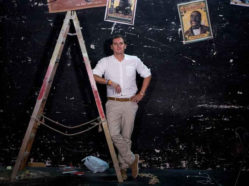 Rivera, en el escenario del Teatro Infanta Isabel.