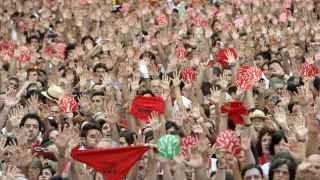 Protesta contra las agresiones sexuales en San Fermín.