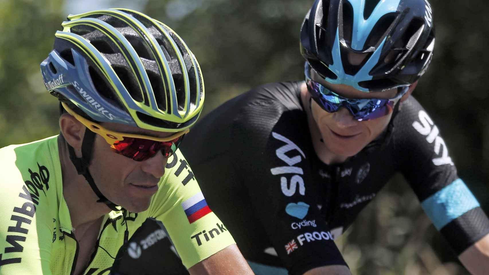 Froome y Contador.