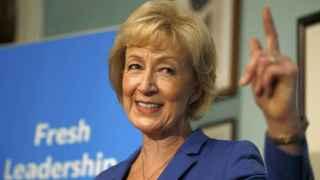 Andrea Leadsom, durante un acto de campaña.