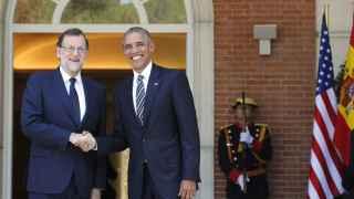 Saludo entre ambos presidentes en Moncloa.