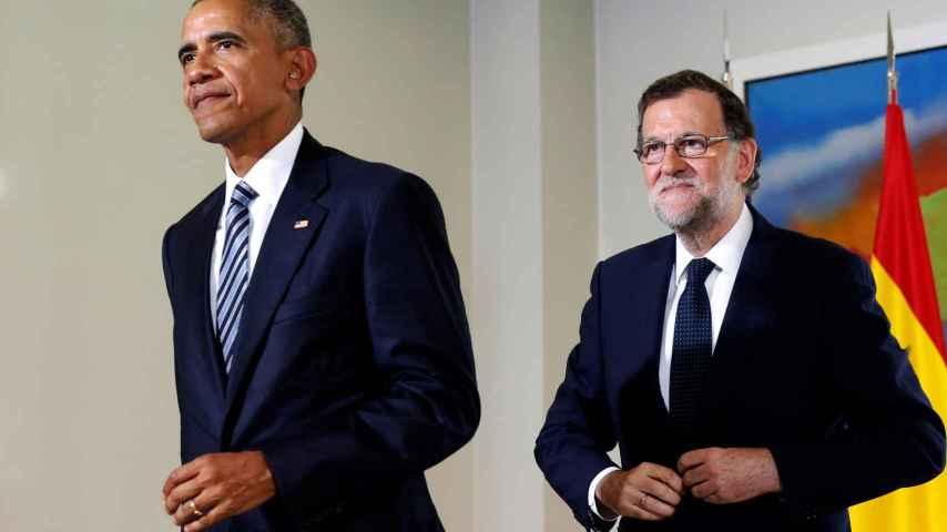 Barack Obama y Felipe VI este domingo.