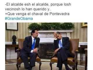 Meme de un tuitero sobre la reunión de Obama y Rajoy