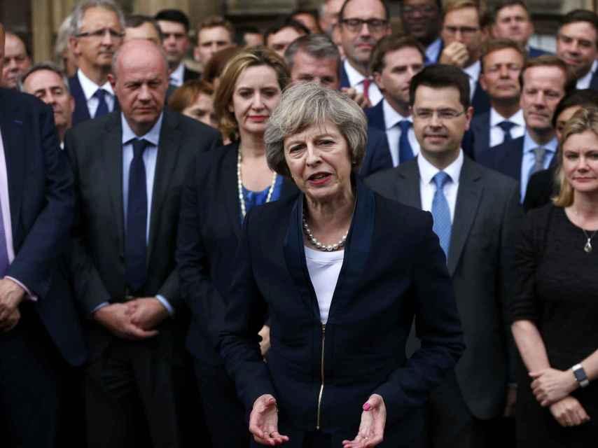 Theresa May habla tras ser elegida líder de los conservadores británicos