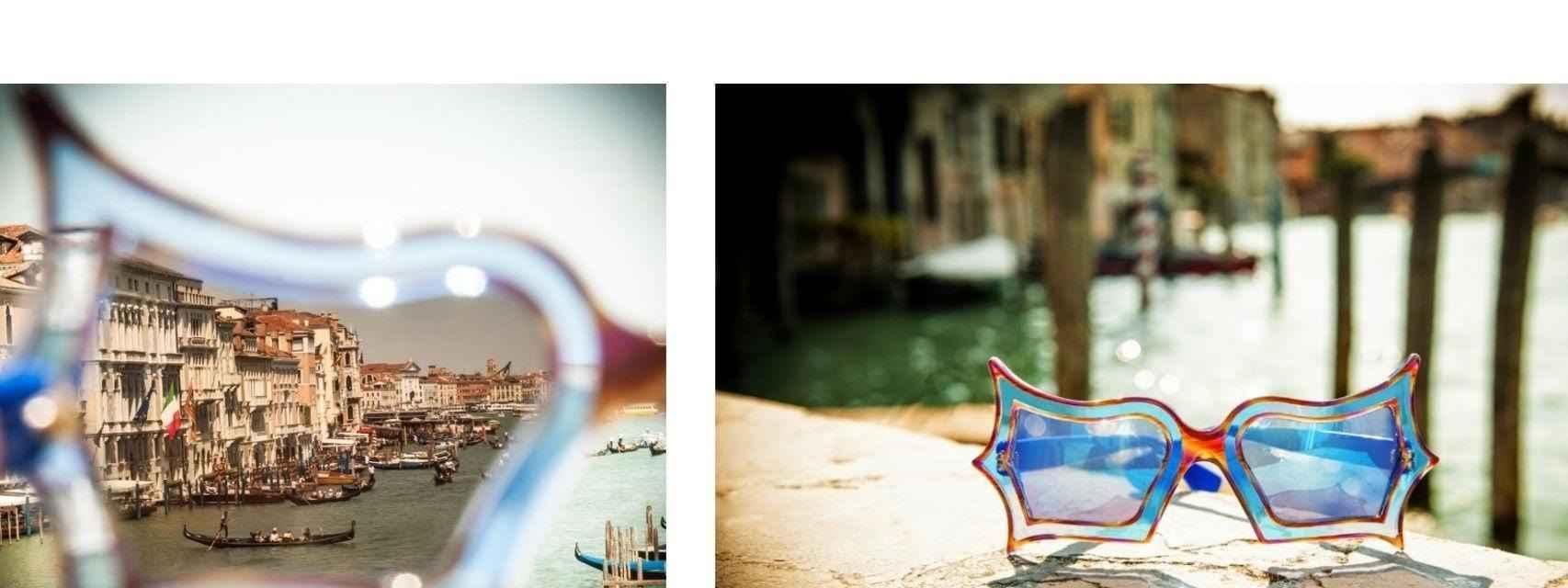 Edición especial de las gafas de Peggy Guggenheim que hizo la firma Safilo.