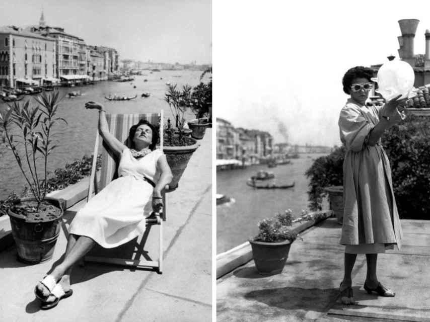 Peggy Guggenheim, en su Palazzo veneciano