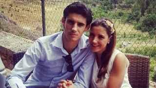 El torero fallecido Víctor Barrio junto a su mujer, Raquel Sanz.