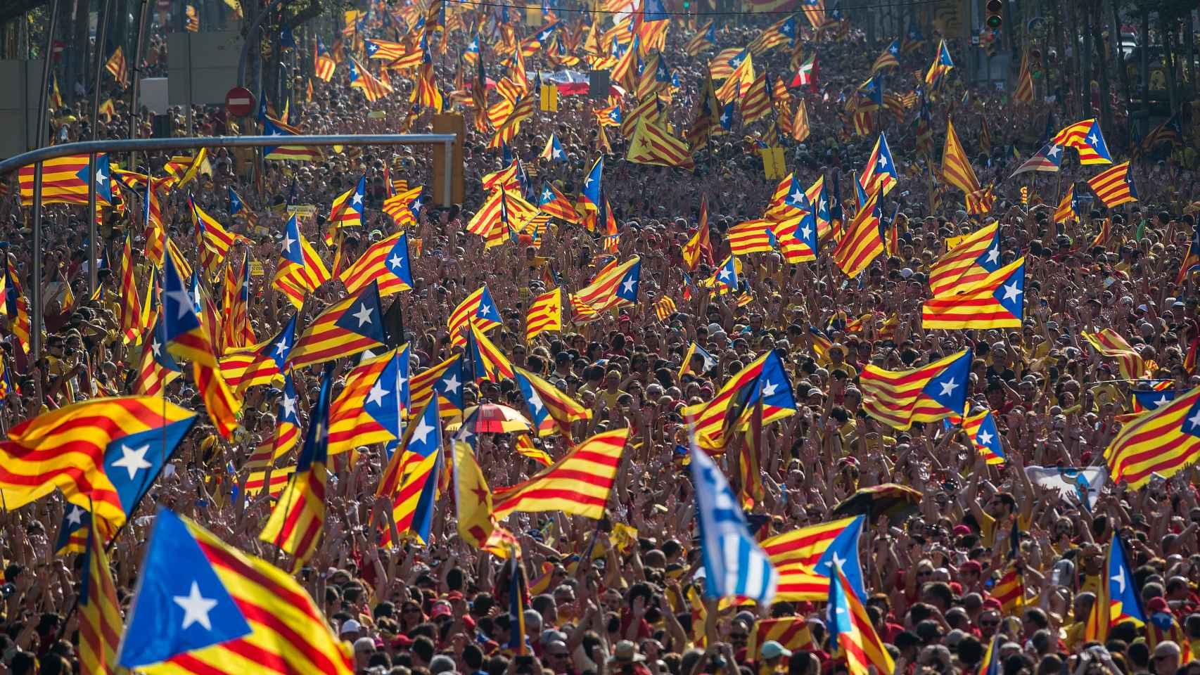 Diada en Barcelona.