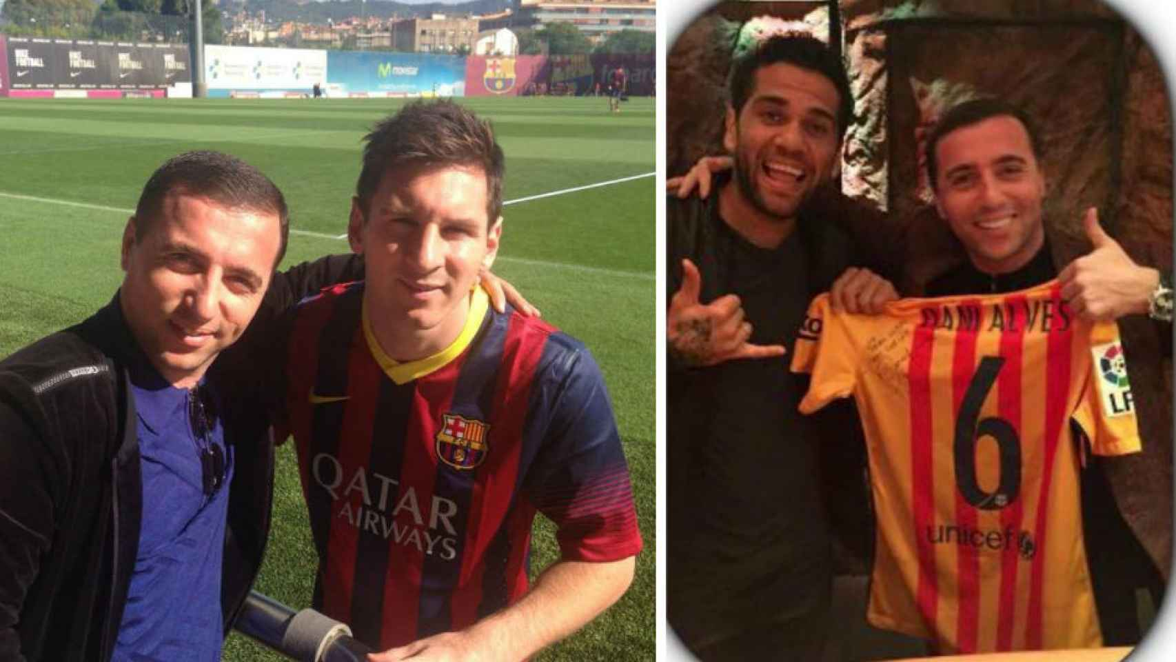 Mayilyan con Leo Messi y Dani Alves