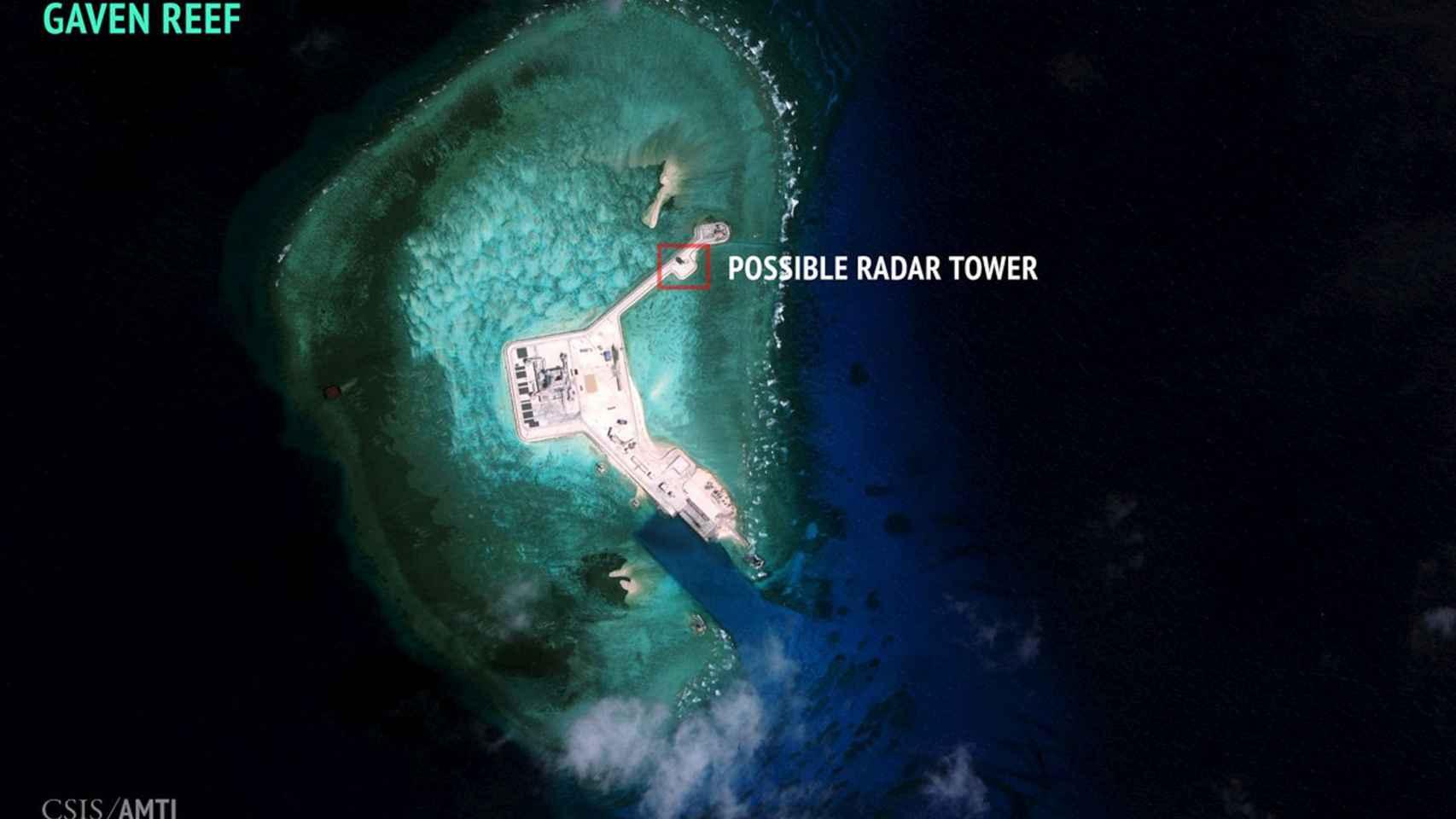 Arrecife Gaven, en las islas Spratly.