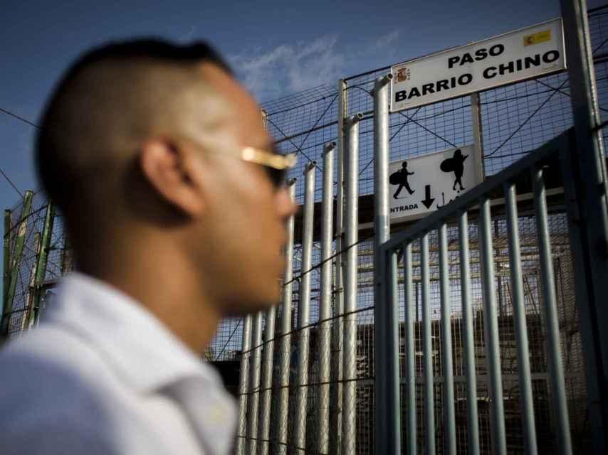 Mohamed cruzó a España por el paso fronterizo de Barrio Chino.